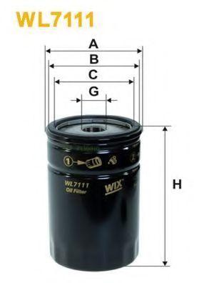 Фильтр масляный WIX WL7111