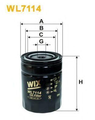 Фильтр масляный WIX WL7114