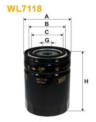 Фильтр масляный WIX WL7118