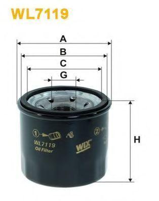 Фильтр масляный WIX WL7119