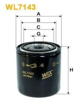 Фильтр масляный WIX WL7143