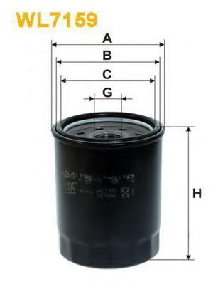 Фильтр масляный WIX WL7159