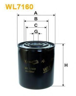 Фильтр масляный WIX WL7160
