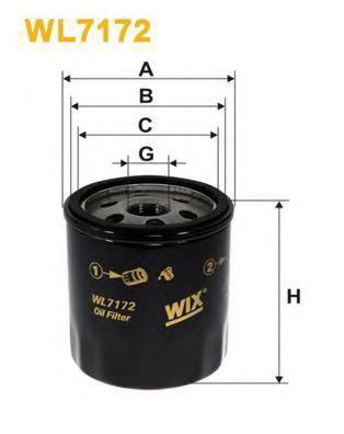 Фильтр масляный WIX WL7172