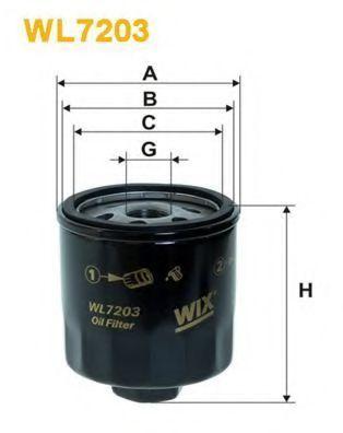 Фильтр масляный WIX WL7203