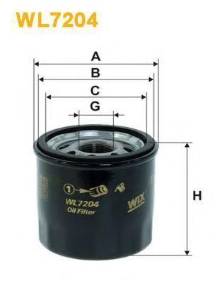 Фильтр масляный WIX WL7204