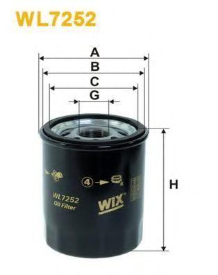 Фильтр масляный WIX WL7252