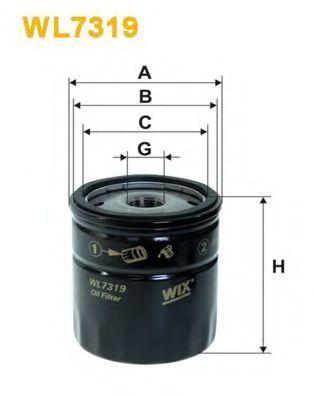 Фильтр масляный WIX WL7319