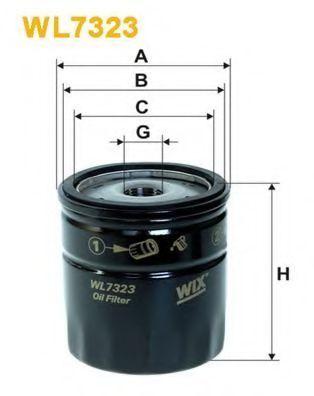 Фильтр масляный WIX WL7323