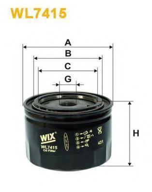 Фильтр масляный WIX WL7415