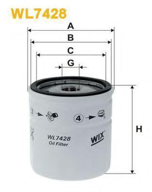 Фильтр масляный WIX WL7428