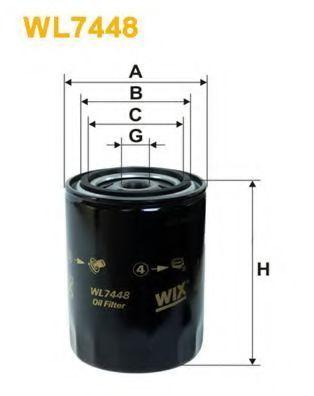 Фильтр масляный WIX WL7448