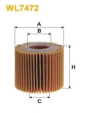 Фильтр масляный WIX WL7472