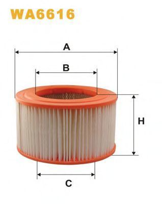 Фильтр воздушный WIX WA6616