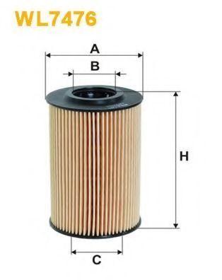 Фильтр масляный WIX WL7476