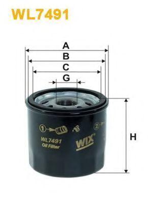 Фильтр масляный WIX WL7491