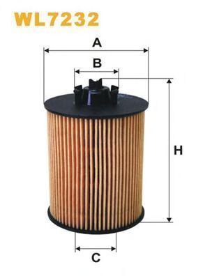 Фильтр масляный WIX WL7232