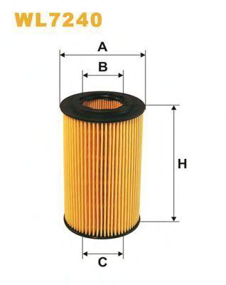 Фильтр масляный WIX WL7240