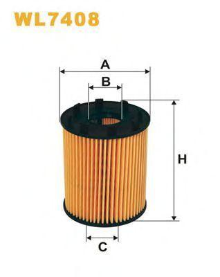 Фильтр масляный WIX WL7408