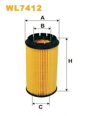 Фильтр масляный WIX WL7412