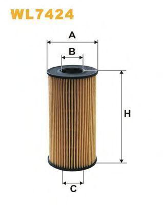 Фильтр масляный WIX WL7424