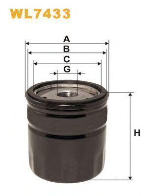 Фильтр масляный WIX WL7433