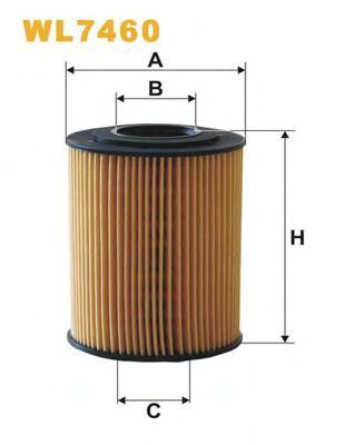 Фильтр масляный WIX WL7460