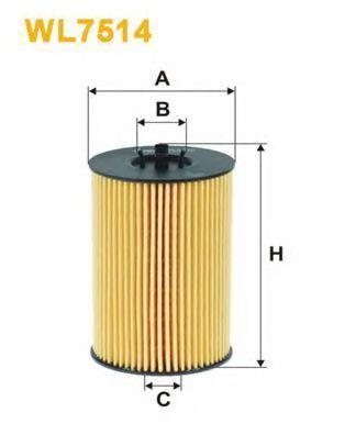 Фильтр масляный WIX WL7514