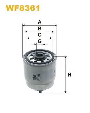 Фильтр топливный WIX WF8361