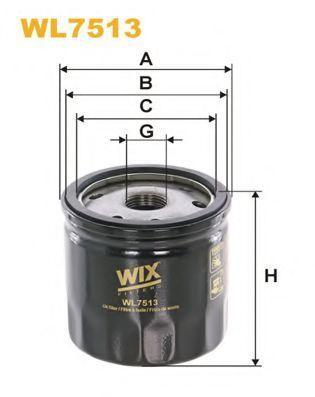 Фильтр масляный WIX WL7513