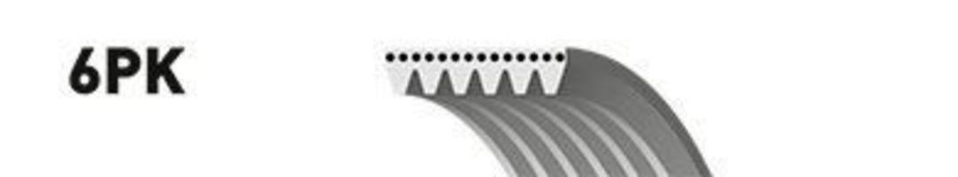 Поліклинові ремінь GATES 6PK1203