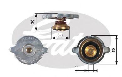 Крышка, радиатор GATES RC102
