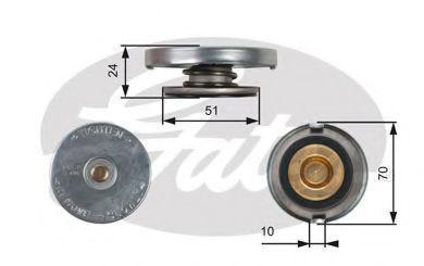 Крышка, радиатор GATES RC105