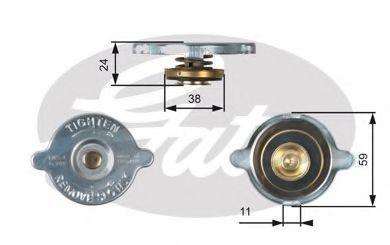 Крышка, радиатор GATES RC106