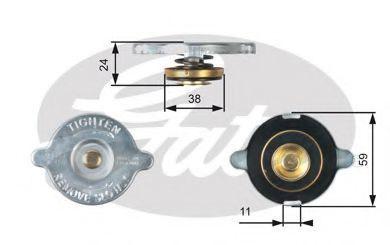 Крышка, радиатор GATES RC107
