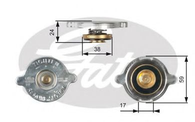 Крышка, радиатор GATES RC109