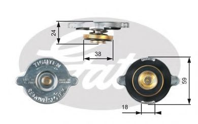 Крышка, радиатор GATES RC111