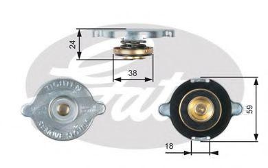 Крышка радиатора GATES RC112