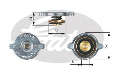 Крышка радиатора GATES RC113