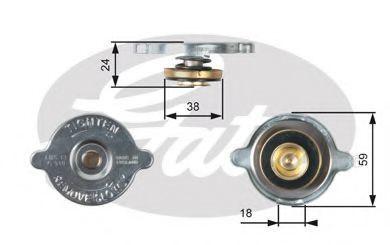 Крышка, радиатор GATES RC115