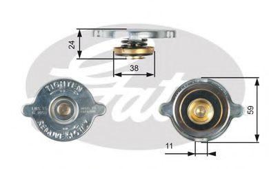 Крышка, радиатор GATES RC116