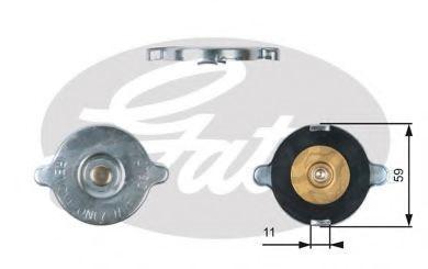 Крышка, радиатор GATES RC117