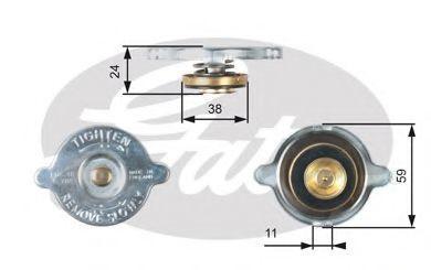 Крышка, радиатор GATES RC118