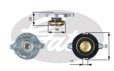 Крышка, радиатор GATES RC122