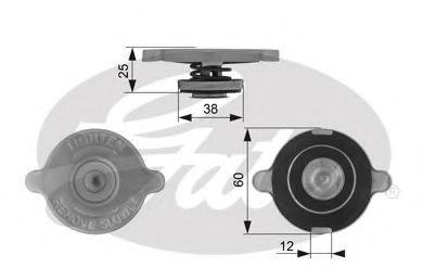 Крышка, радиатор GATES RC132