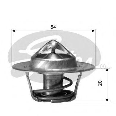 Термостат, охлаждающая жидкость GATES TH00182G4