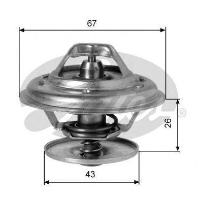 Термостат, охлаждающая жидкость GATES TH01982G1