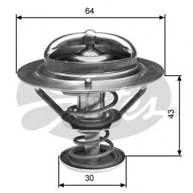 Термостат, охлаждающая жидкость GATES TH27082G1