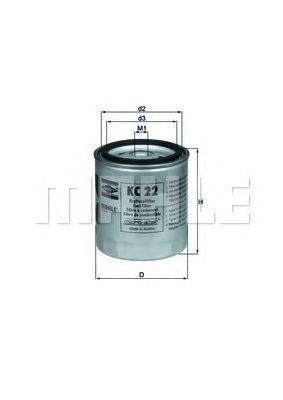 Фильтр топливный KNECHT KC22