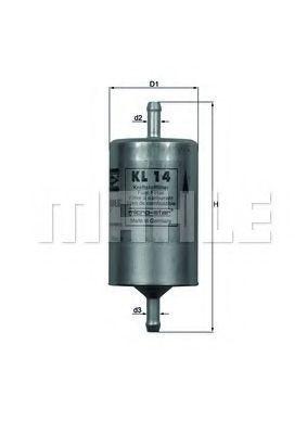 Фильтр топливный KNECHT KL14